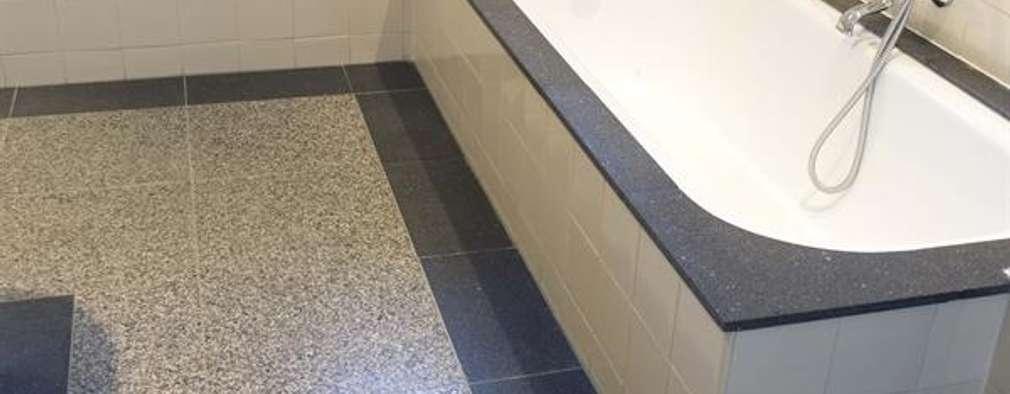 Een terrazzo vloer in de badkamer: 6 fraaie voorbeelden!