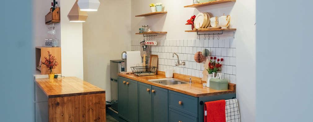 Projekty,  Kuchnia zaprojektowane przez 바라다봄 스튜디오