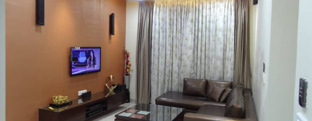 Mr.Gunjan Sharma: modern Living room by UNIQUE DESIGNERS & ARCHITECTS