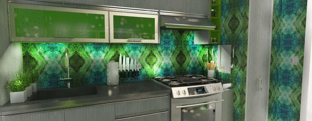 19 Imágenes de cocinas en 3D para que te inspires a hacer la tuya