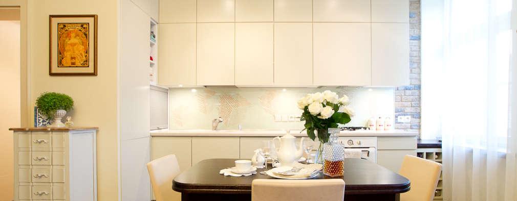 Miekszanie na Starówce: styl , w kategorii Kuchnia zaprojektowany przez Gzowska&Ossowska Pracownie Architektury Wnętrz