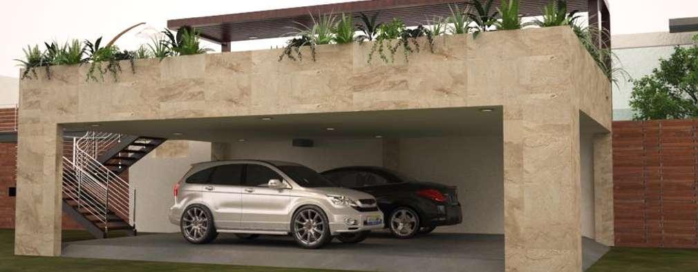 Construyeron una terraza fabulosa arriba del garaje for Una dimensione del garage per auto