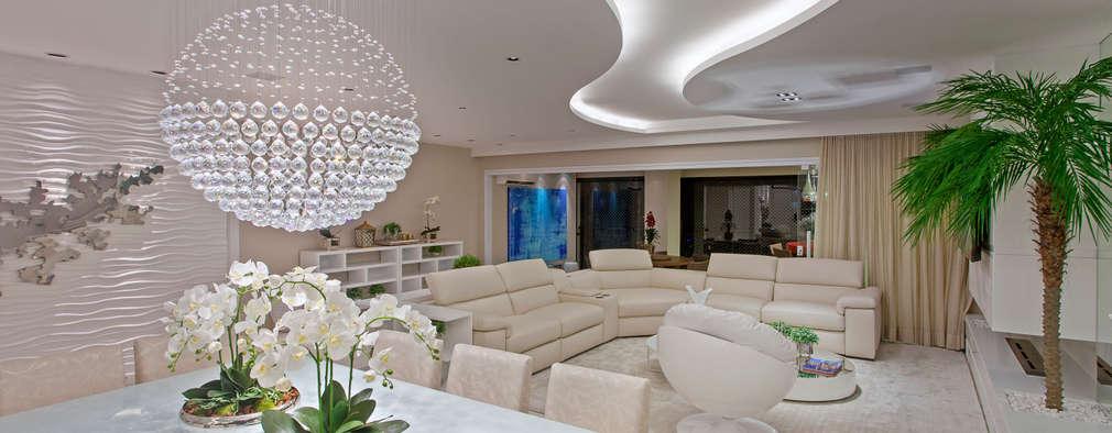 Apartamento São Paulo: Salas de estar modernas por Designer de Interiores e Paisagista Iara Kílaris
