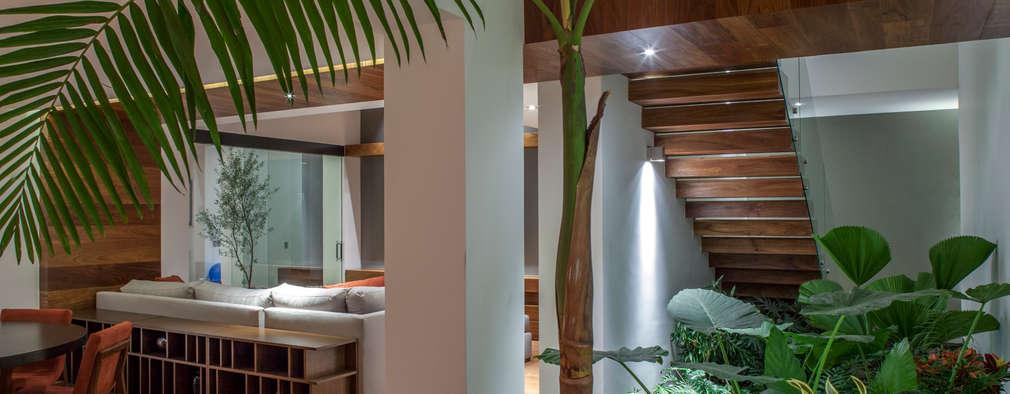 Comedores de estilo ecléctico por Almazan y Arquitectos Asociados