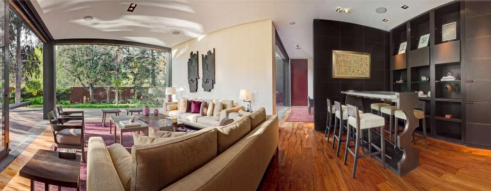 Salas de estilo moderno por Lopez Duplan Arquitectos