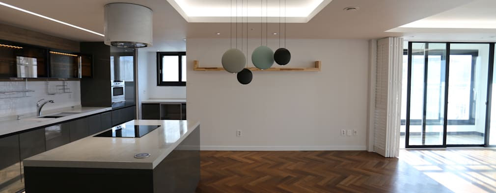 modern Dining room by 디자인세븐