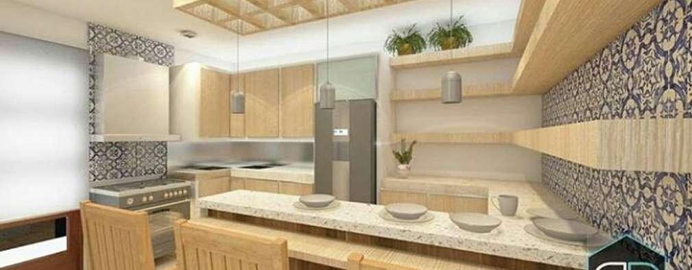 Proyectos: Cocinas de estilo moderno por Perfil Arquitectura