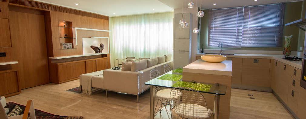 Salas de estar modernas por TRIBU ESTUDIO CREATIVO