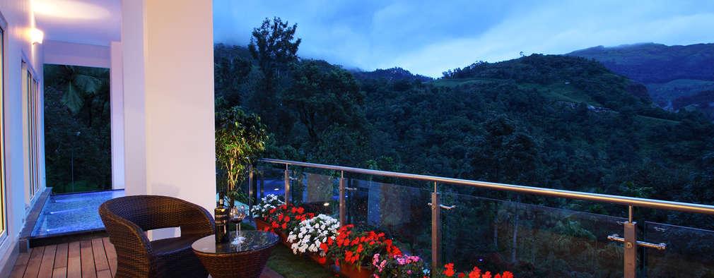 Jardines de estilo moderno por Savio and Rupa Interior Concepts