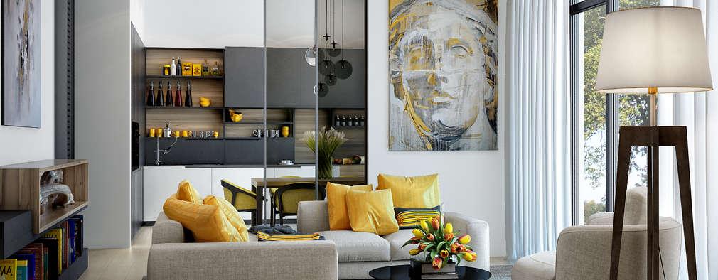 Salas de estilo escandinavo por PRIVALOV design