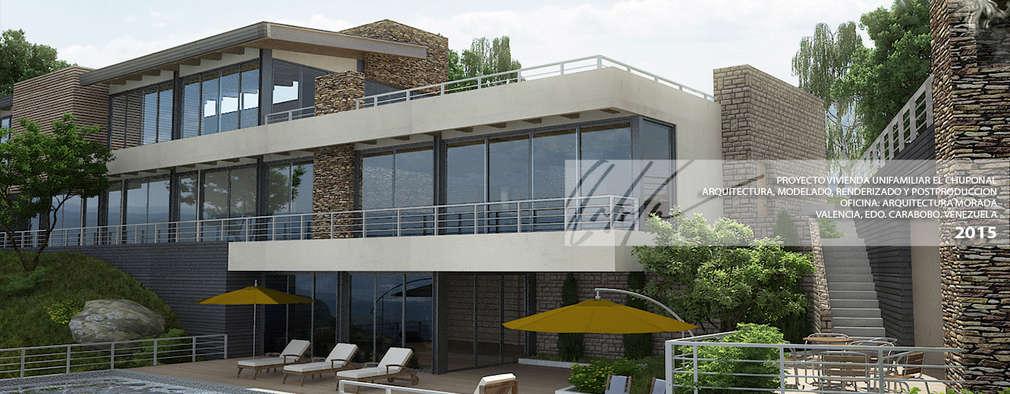 Casas de estilo minimalista por Arq.AngelMedina+