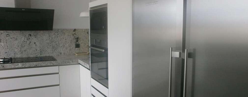 11 fotos de una cocina moderna con tope de granito for Granito gris cristal