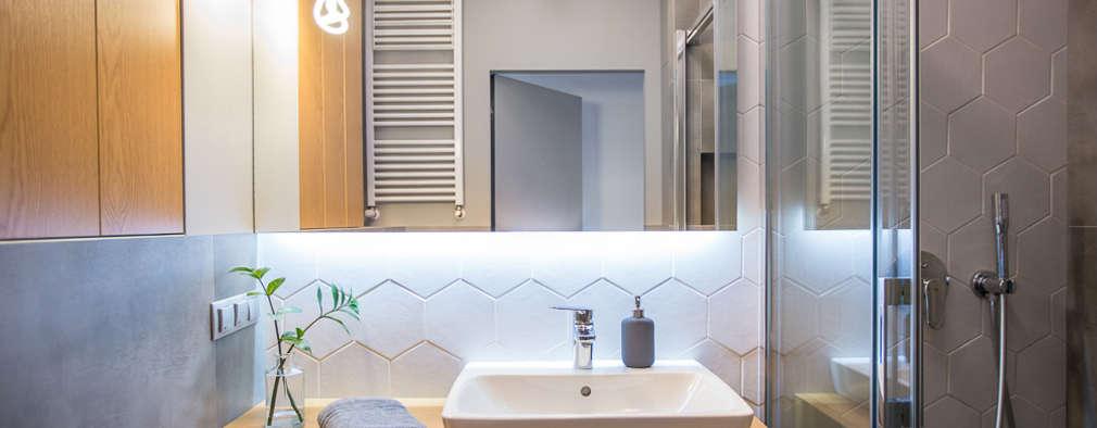Mała łazienka: styl , w kategorii Łazienka zaprojektowany przez JSM