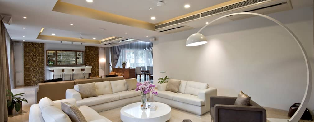 Private Residence, Koregaon Park, Pune: modern Living room by Chaney Architects