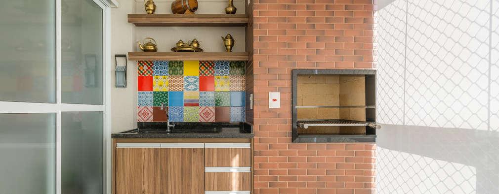 Hiên, sân thượng by Sandra Pompermayer Arquitetura e Interiores