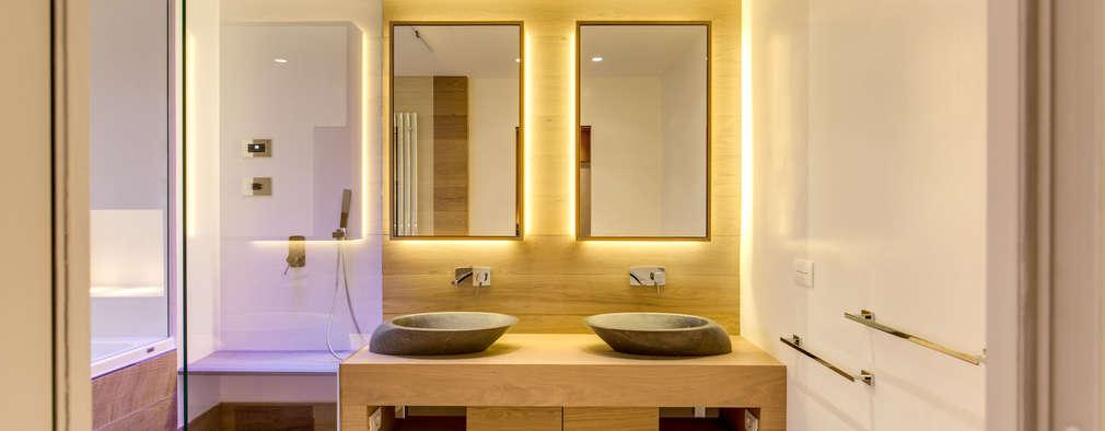 CAMILLUCCIA: Bagno in stile in stile Moderno di MOB ARCHITECTS