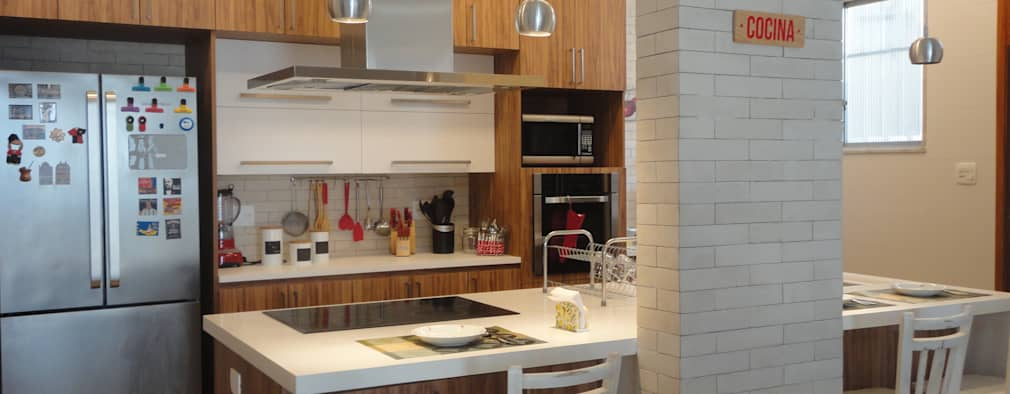 rustic Kitchen by Maria Helena Torres Arquitetura e Design