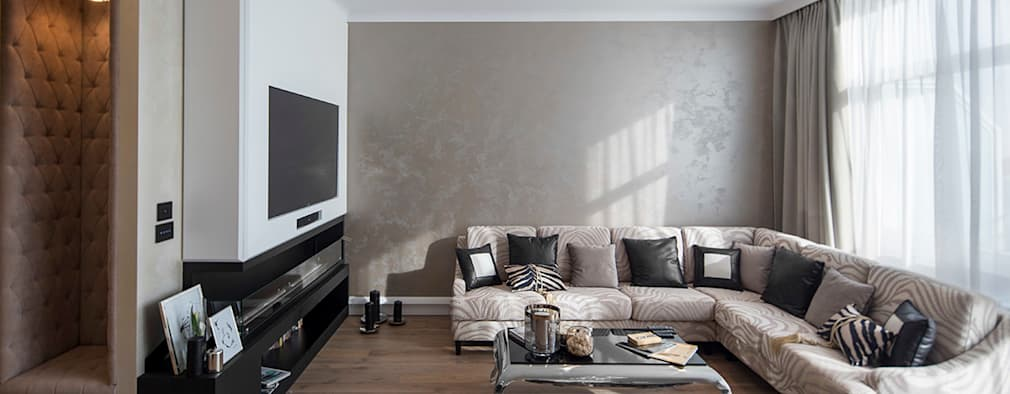 Salon. : styl , w kategorii Salon zaprojektowany przez CAROLINE'S DESIGN