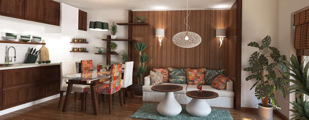 Projekty,  Salon zaprojektowane przez Inspiria Interiors