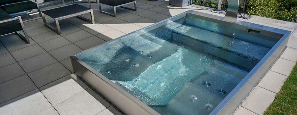14 piscinas de acero inoxidable ideales para este verano - Piscina acero inoxidable ...