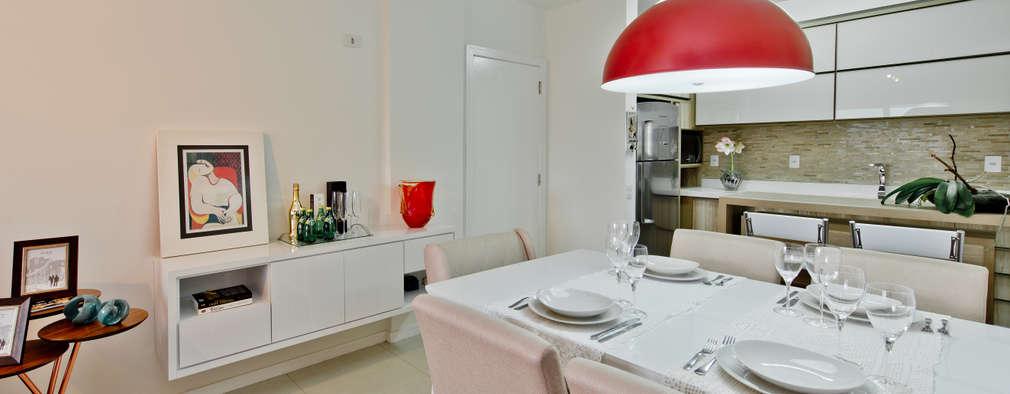 Mendonça Pinheiro Interiores: modern tarz Yemek Odası