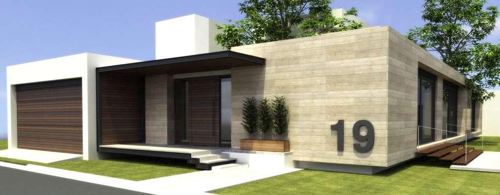 20 fachadas de casas de una planta que te inspirar n a for Fachadas de casas de una planta