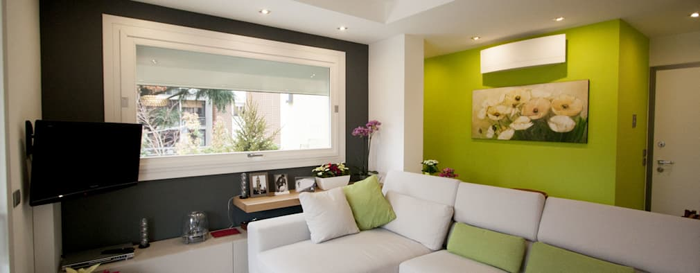 10 ideas de color para pintar la sala for Colores para living