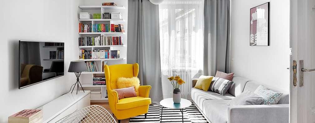 Livings de estilo escandinavo por dziurdziaprojekt
