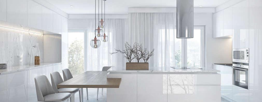 Nhà bếp by DZINE & CO, Arquitectura e Design de Interiores