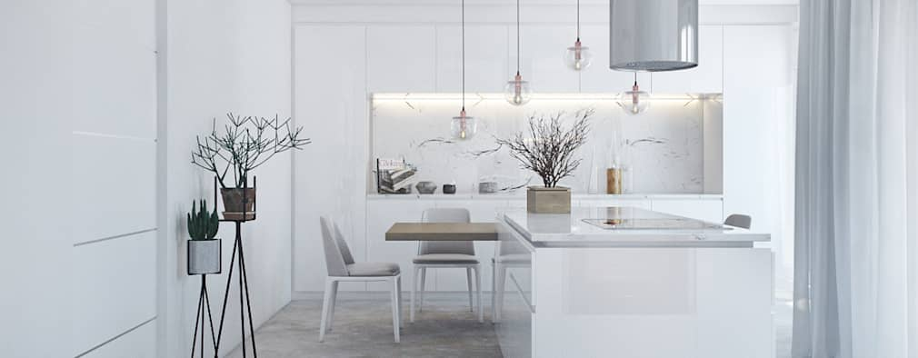 Cocinas de estilo moderno por DZINE & CO, Arquitectura e Design de Interiores