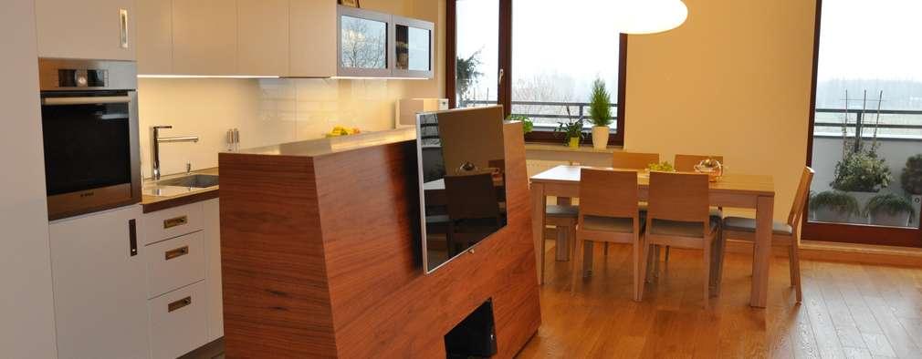 Mieszkanie na Służewcu: styl , w kategorii Jadalnia zaprojektowany przez BFArchitekt