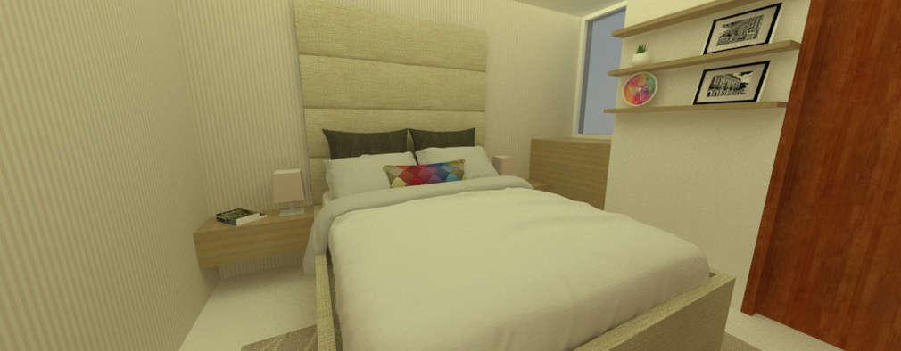 Habitación: Dormitorios de estilo  por Tres en uno design