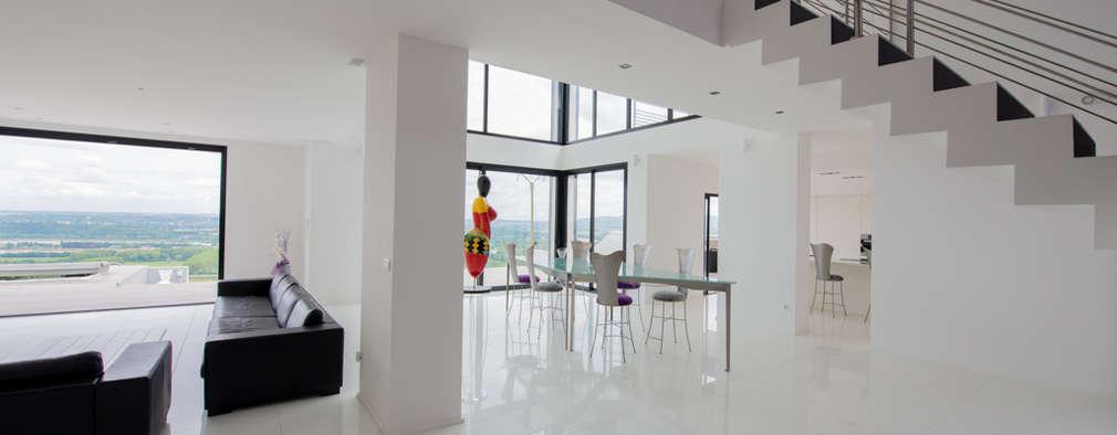 Ultra moderne Villa ganz in Weiß