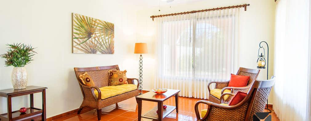 colonial Living room by PORTO Arquitectura + Diseño de Interiores