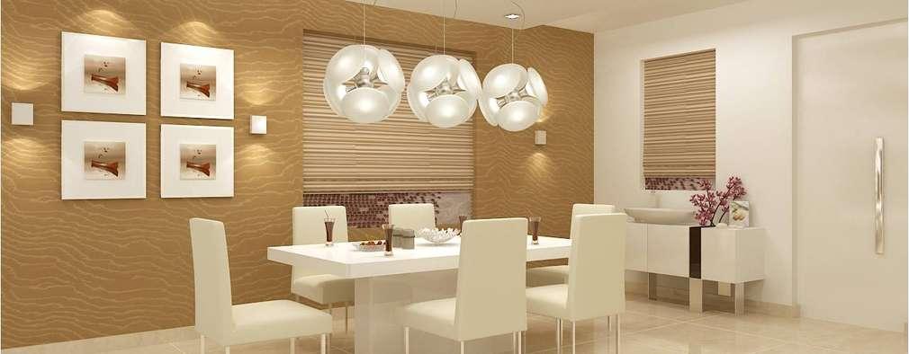 CHAITANYA LA GROVE VILLA, BANGALORE (www.depanache.in) : modern Dining room by De Panache  - Interior Architects