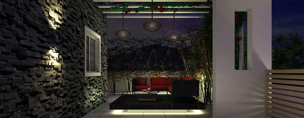 ระเบียง, นอกชาน by De Panache  - Interior Architects