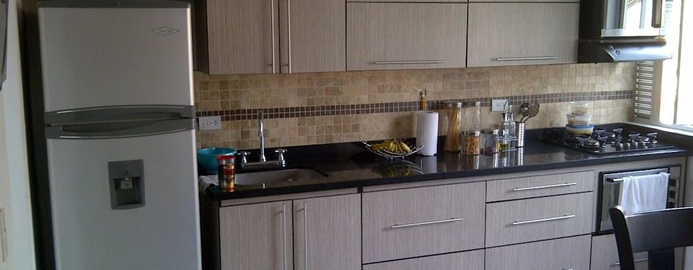 6 cocinas empotradas en l nea para que proyectes la tuya for Cocinas lineales de cuatro metros