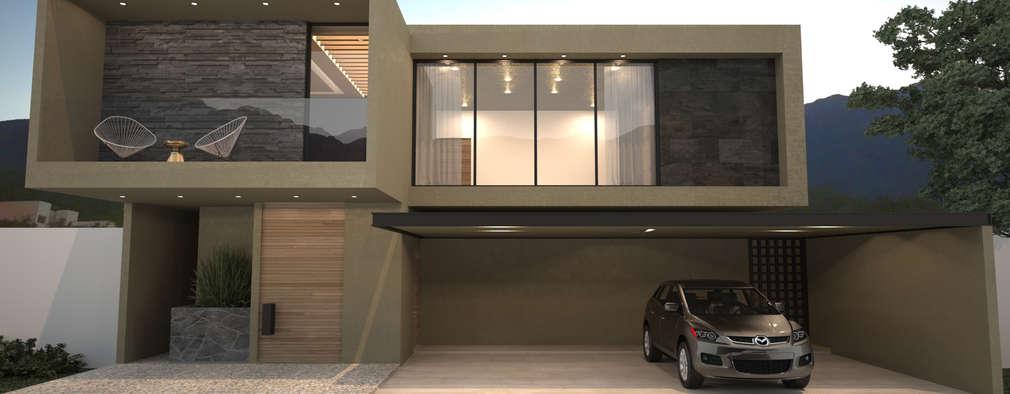 25 fachadas de casas modernas para ver antes de construir for Ver frentes de casas