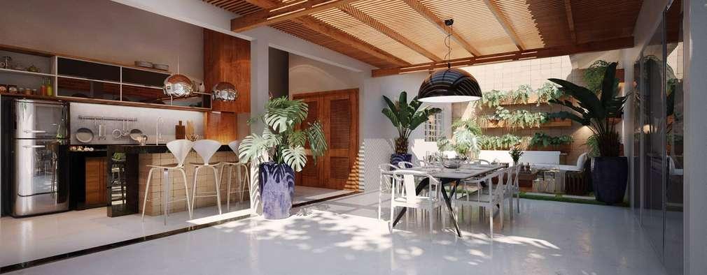 Jardines de estilo moderno por Hungaro Decor