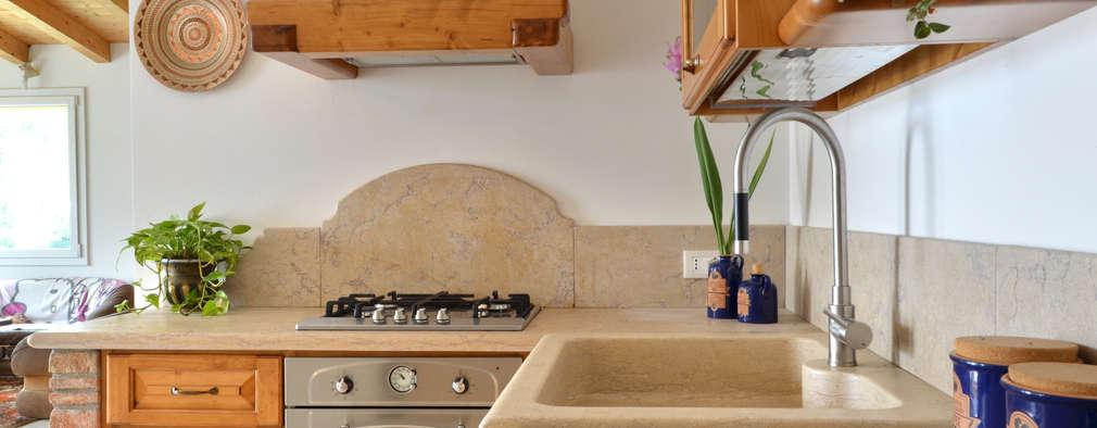 Projekty,  Kuchnia zaprojektowane przez SALM Caminetti