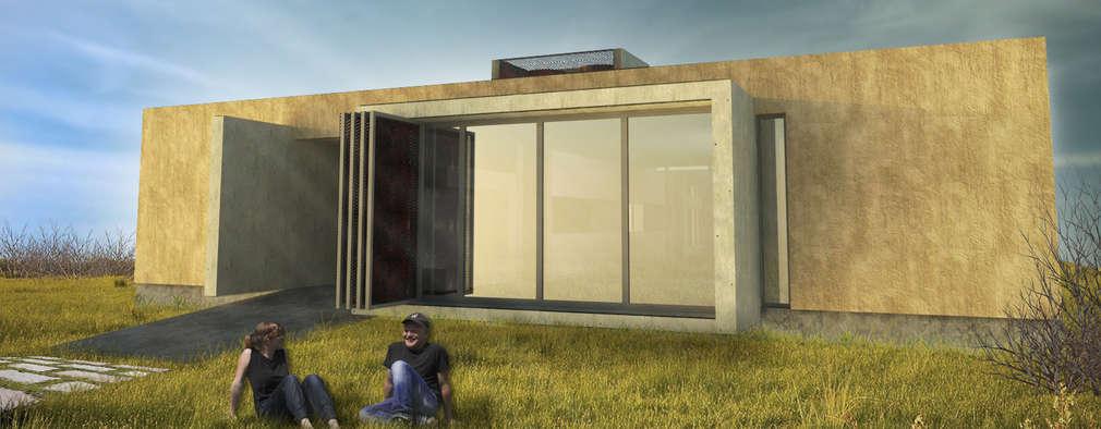 Projekty, minimalistyczne Domy zaprojektowane przez Arquitecto Juan Nicolás Bobba