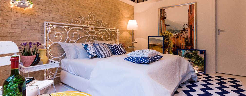 Dormitorios de estilo rústico por ARC+ Arquitetura