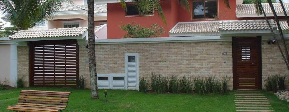 6 ideias lindas para deixar a entrada da sua casa perfeita - Cerramientos de piedra ...