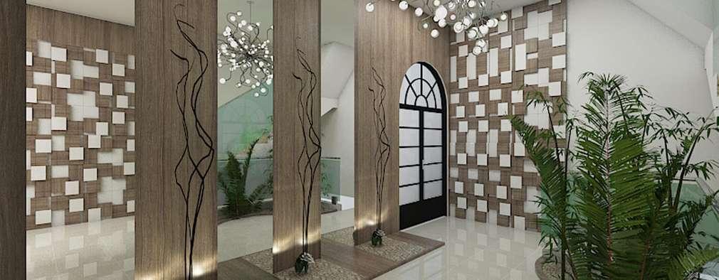 Pasillos y recibidores de estilo  por Plano A Studio