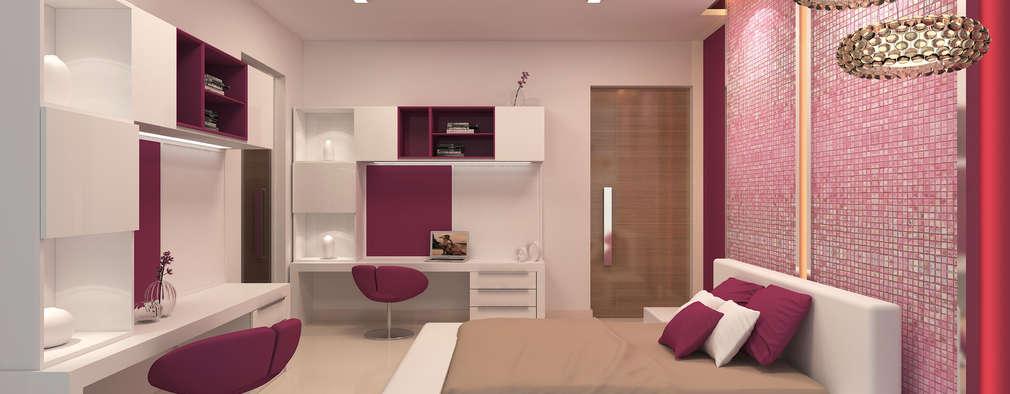BELLEZEA, NAMBIAR BUILDERS, SARJAPUR, BANGALORE. (www.depanache.in): modern Bedroom by De Panache  - Interior Architects