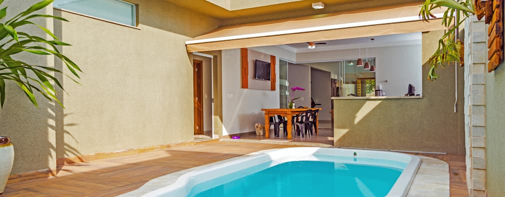 Piscinas para casas peque as 12 ideas fabulosas - Casas pequenas con piscina ...