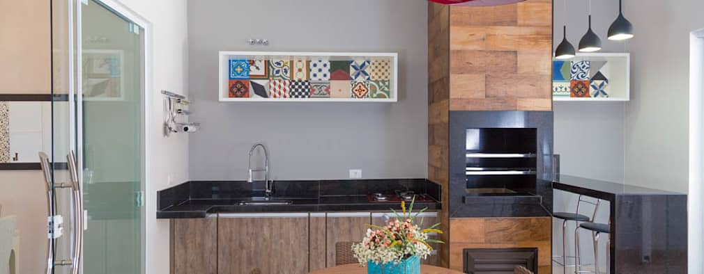 Terrazas de estilo  por ADRIANA MELLO ARQUITETURA