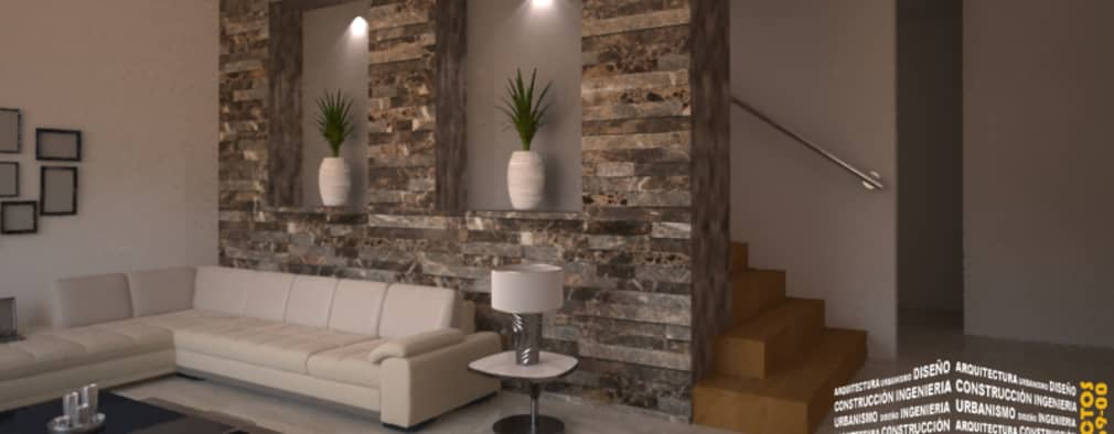 9 ideas con piedra para las paredes del living for Decorar paredes living