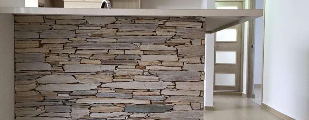 10 maneras de revestir la pared de tu cocina con piedra for Paredes de cocina decoradas