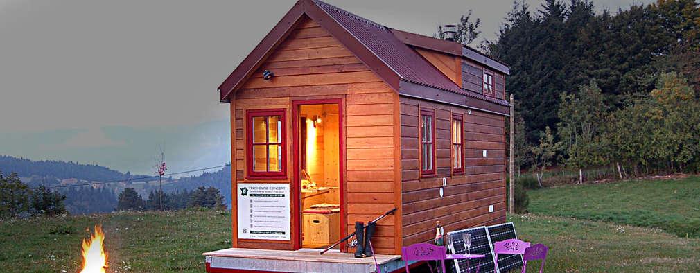 Projekty, eklektyczne Domy zaprojektowane przez TINY HOUSE CONCEPT - BERARD FREDERIC